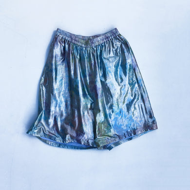 Nor Black Nor White Silver Shimma Short