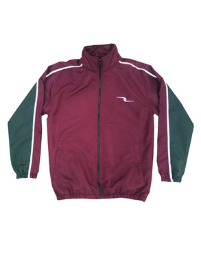 Precious Trust Maroon/Green Mix Tracksuit Top
