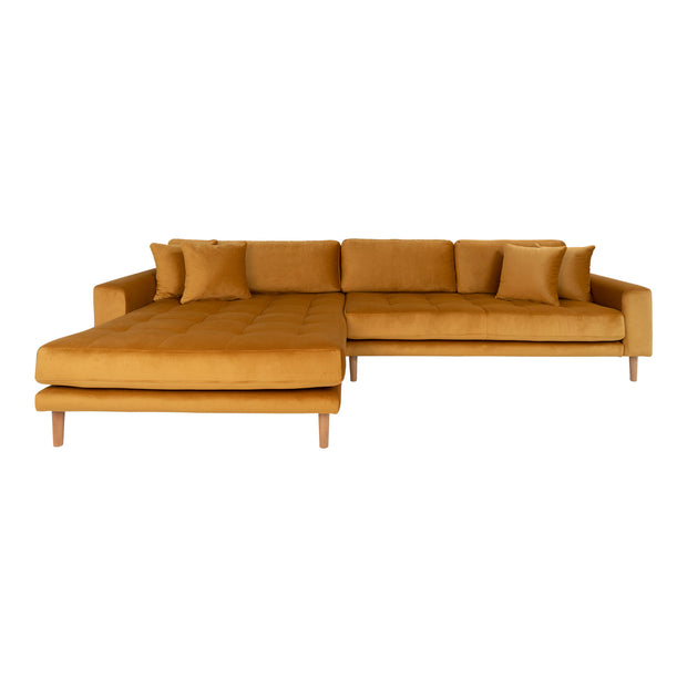 Lounge sofa sennepsgul velour