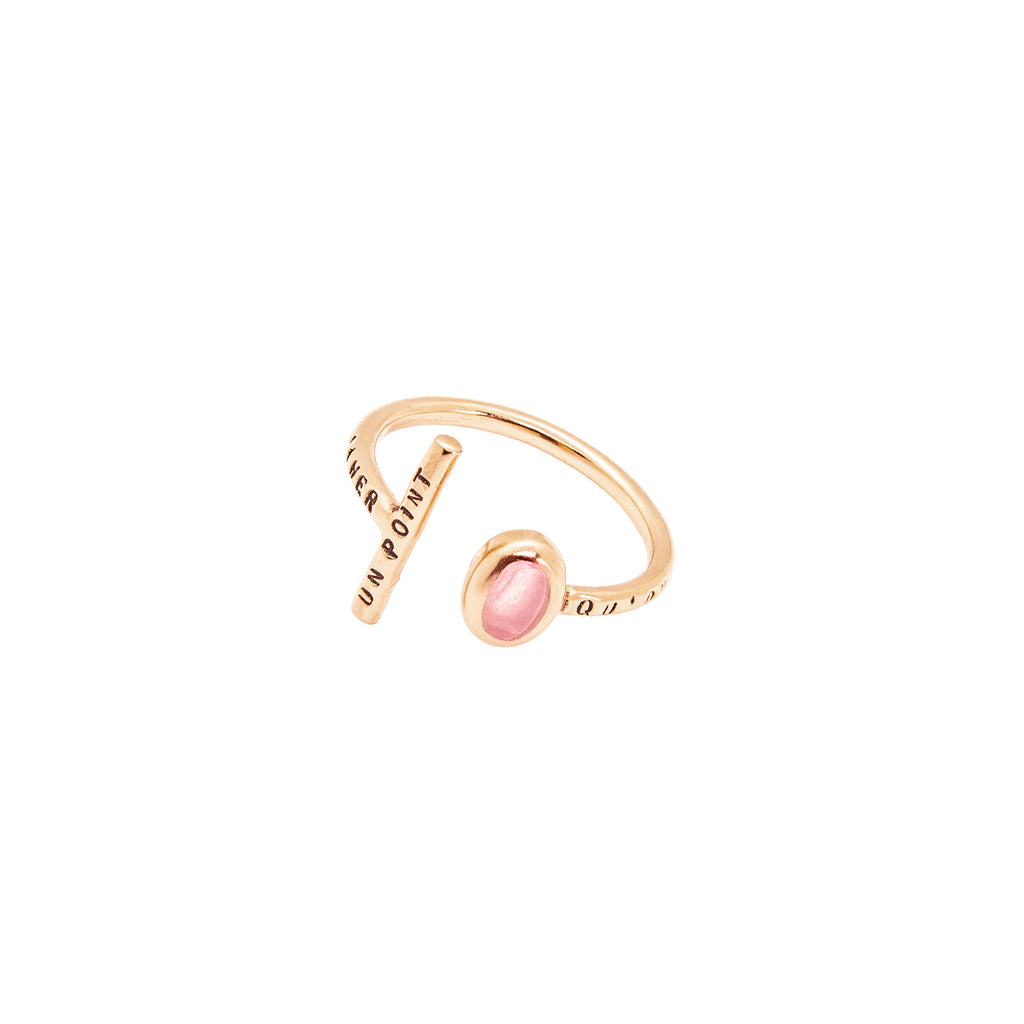 "BAGUE ""UN POINT ROSE"""