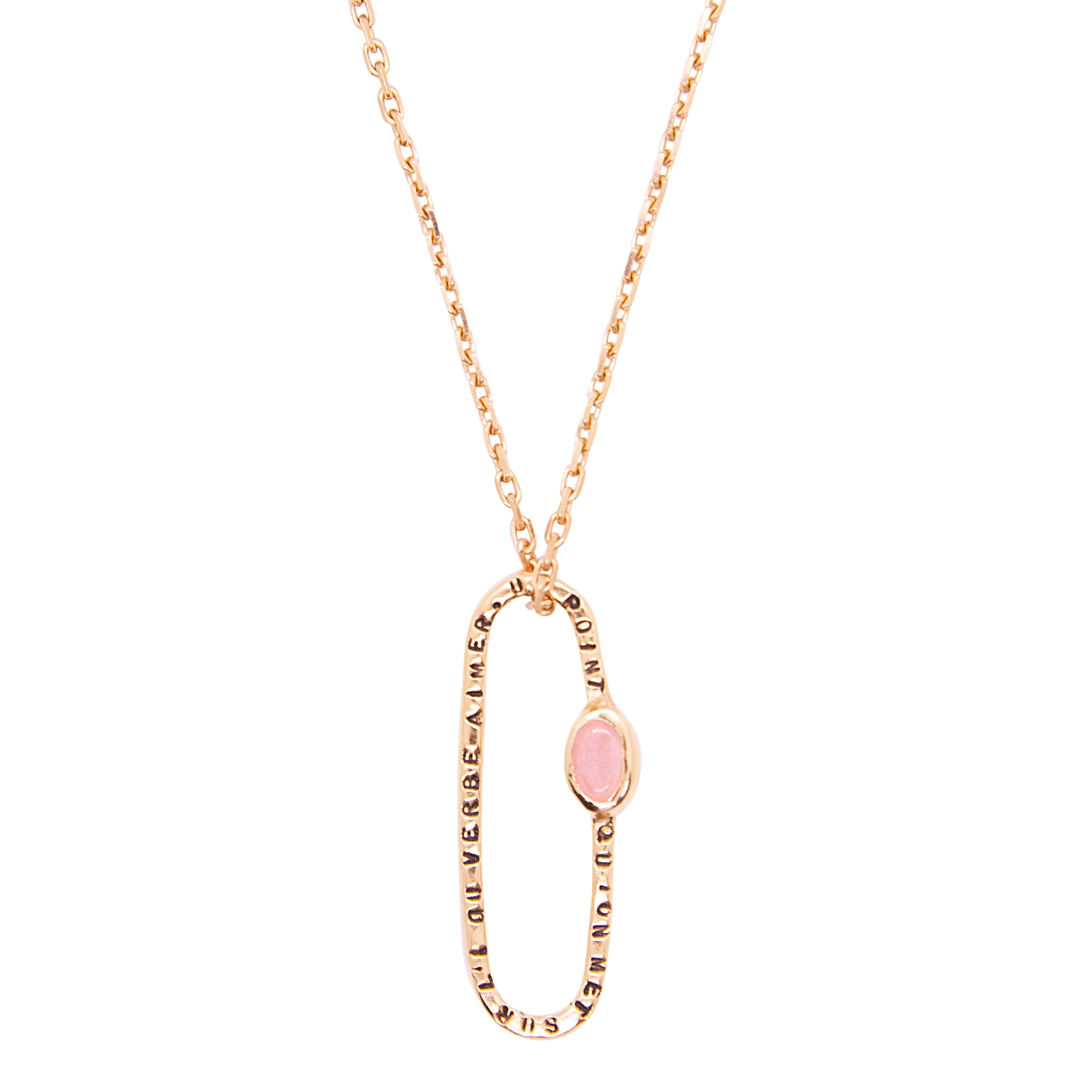 "COLLIER ""UN POINT ROSE"""