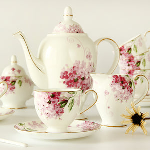 15 pcs ceramic bone tea set