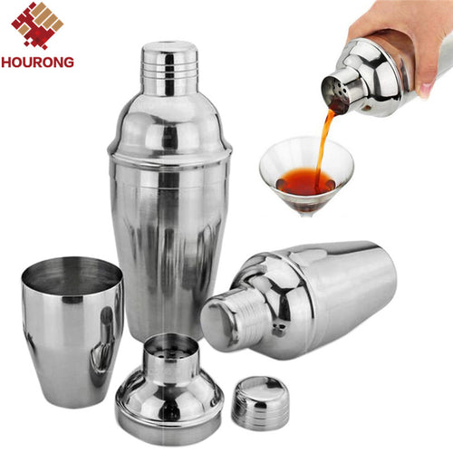 1Pcs 550ml Stainless Steel Cocktail Shaker