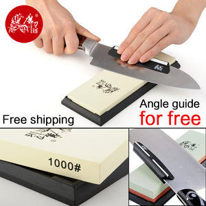 TAIDEA 240 1000 3000 5000 Sharpening Stone For Knife 1000 Grit Knife sharpener white corundum whetstone angle guide for free