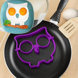 DIY Silicone Owl Shaped Fried Eggs