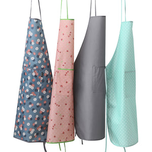 Thick waterproof kitchen apron anti-fouling adult women cooking work wear overall PVC material