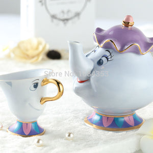 Genuine Cartoon Beauty And The Beast Tea Set