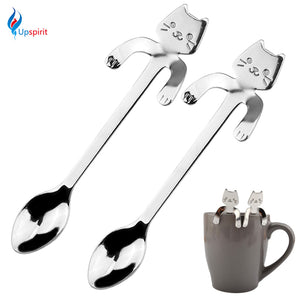 New 2Pcs Stainless Steel Coffee & Tea Spoon