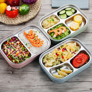 WORTHBUY 304 Stainless Steel Japanese Lunch Boxs