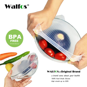 Reusable high stretch Silicone Food Wraps