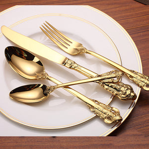 High Quality Luxury Golden Dinnerware Set