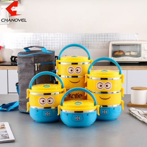 Cute Cartoon Lunch stainless steel box For Kids