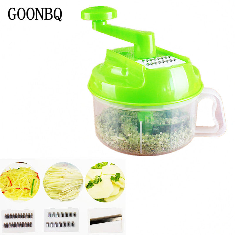 GOONBQ 1 pc Hand-Powered Food Chopper