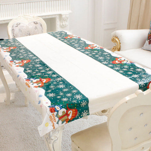 Christmas Disposable Tablecloth