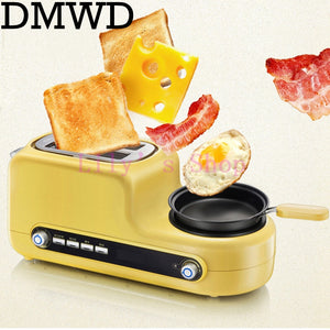 Portable breakfast machine automatic bread baking maker fried eggs boiler frying pan