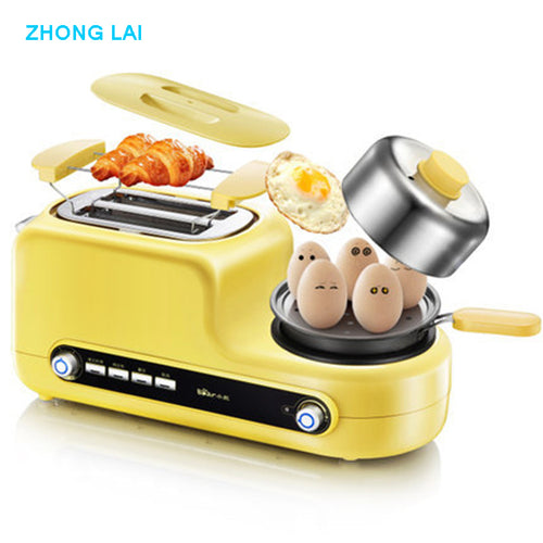 Toaster With Frying Pan Muti-function Breakfast Maker Egg Steamer