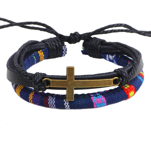 Ethnic Cross Bracelet