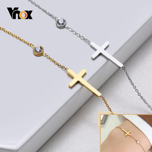 Delicate Sideways Cross Bracelet - Amen Style - Christian Jewelry, T-shirts and Decor