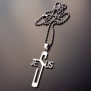 Jesus Cross - Fun Stainless Steel Christian Necklace - Amen Style - Christian Jewelry, T-shirts and Decor