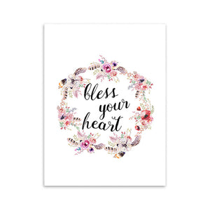 Bless your heart - Poster Print - Amen Style - Christian Jewelry, T-shirts and Decor