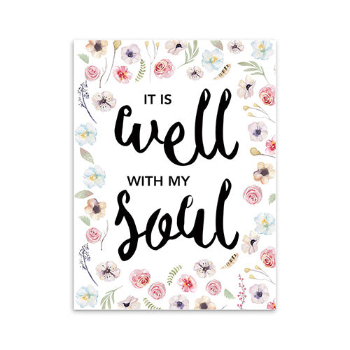 It is well - Calligraphy Bible Verse Print Poster - Amen Style - Christian Jewelry, T-shirts and Decor