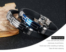 Cool Christian Cross Silicone Mens Bracelets