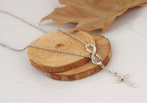 Beautiful Christian Infinite Cross Pendant Necklace