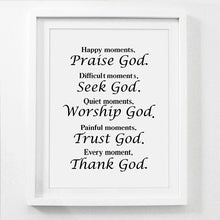 Praise God - Inspiring Poster Print - Amen Style - Christian Jewelry, T-shirts and Decor
