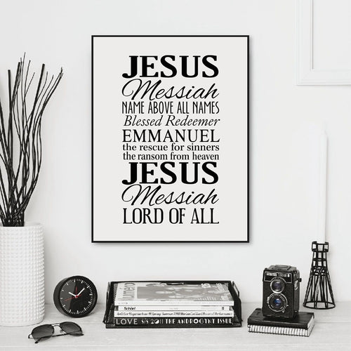 Name above all names - Names of Jesus Poster Print