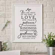 Galatians 5 Fruit of the Spirit - Bible Verse Poster Print - Amen Style - Christian Jewelry, T-shirts and Decor