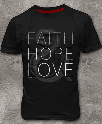 Faith Hope Love - Stylish Christian Men's T-shirt - Amen Style - Christian Jewelry, T-shirts and Decor