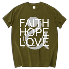 Faith Hope Love - Stylish Christian Men's T-shirt