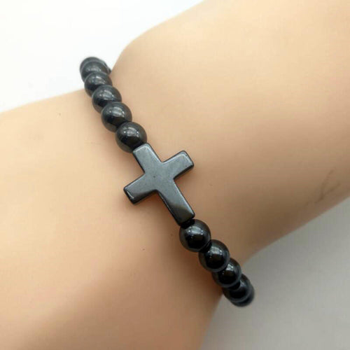 Unisex Black Cross Bracelet