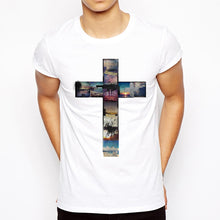 Summer Collage Cool Cross T-Shirt - Amen Style - Christian Jewelry, T-shirts and Decor