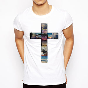 Summer collage cool cross t shirt amen style christian jewellery summer collage cool cross t shirt voltagebd Image collections