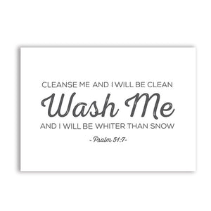 Psalm 51:7 Wash Me - Scripture Poster Canvas Painting - Amen Style - Christian Jewelry, T-shirts and Decor