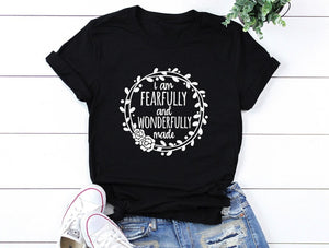 Fearfully and wonderfully made T-shirt - Amen Style - Christian Jewelry, T-shirts and Decor