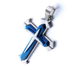 Cross Necklace For Men Stainless Steel Pendant - Amen Style - Christian Jewelry, T-shirts and Decor