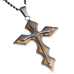 Cross Necklace For Men Stainless Steel Pendant