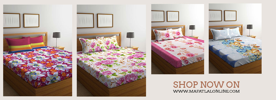 floral bed sheet online shopping in india