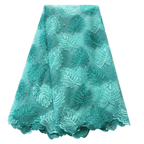 african lace fabric nigerian lace 705 aqua