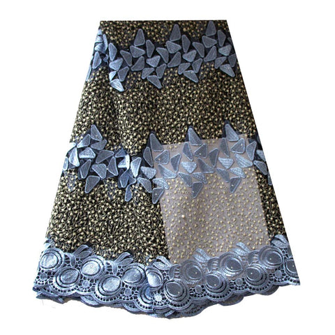 african lace fabric sky blue