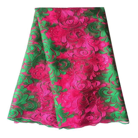 african lace fabric nigerian lace rose green