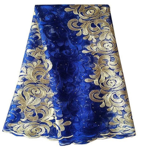 african lace fabric nigerian lace 334 blue