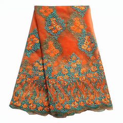 african lace nigerian lace orange