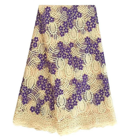 african lace fabric nigerian lace 377 beige