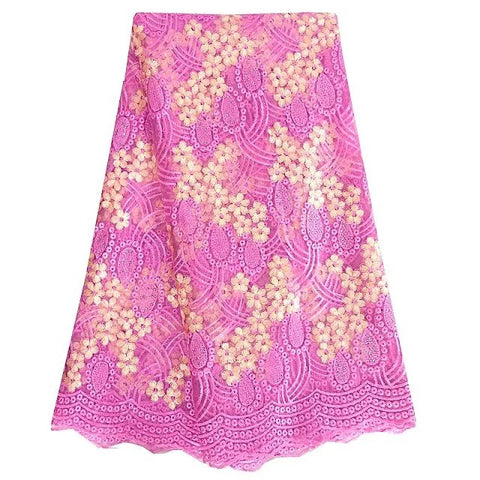 african lace fabric nigerian lace 377 pink