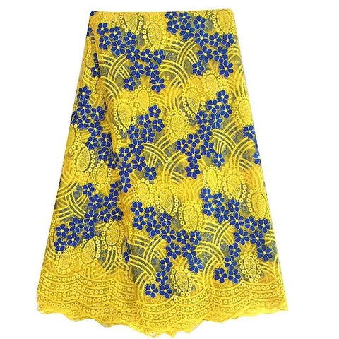 lace fabric yellow