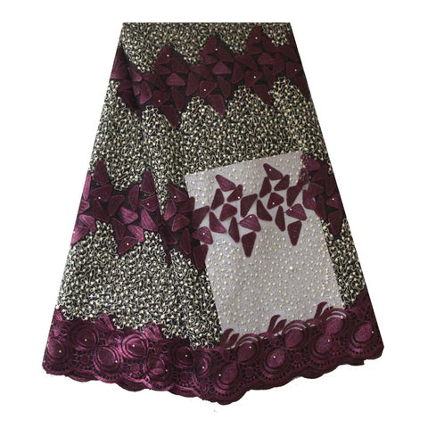 african lace fabric purple