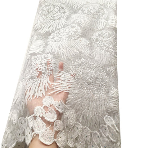 african lace fabric nigerian lace wedding dress white